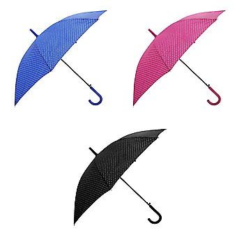 Womens/damer automatisk åpning Polka Dot gå paraply