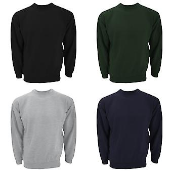UCC 50/50 Unisex Plain Set-In Sweatshirt Top