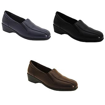 Mod Comfys Womens/Ladies Flexible Slip-On Twin Gusset Shoes