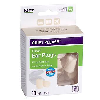 Flents quiet! please ear plugs, foam, 10 pairs