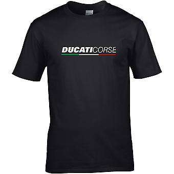 Ducati Corse Words - Motorcycle Motorbike Biker - DTG Printed T-Shirt