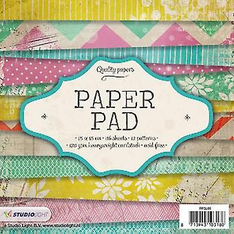 Studio Light Paper pad 36 sheets 12 designs nr 66 PPSL66 15x15 cm