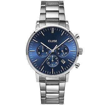 Cluse Watches Cw0101502011 Aravis Chrono Dark Blue & Silver Stainless Steel Men's Watch