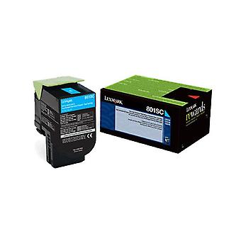Lexmark 808Sce Cyan Standard Yield Toner Cartridge Corporate