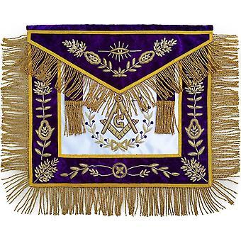 Masonic grand lodge master mason apron hand embroidered