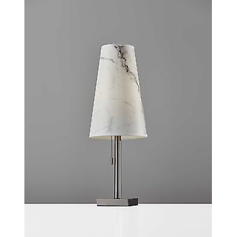 "9"" X 9"" X 24"" Brushed Steel Metal Table Lamp"