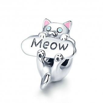 Sterling Silver Charm Cat Meow - 5742