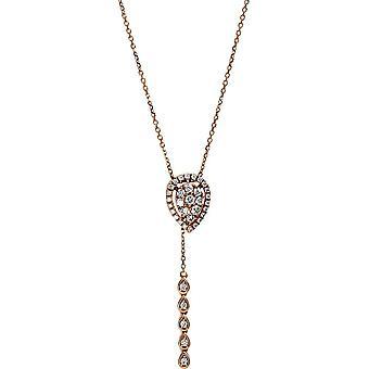 Collier de diamant - 18K 750/- Or Rouge - 0,28 ct. - 4E228R8-1