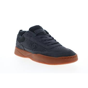 DC Penza  Mens Gray Suede Lace Up Athletic Skate Shoes