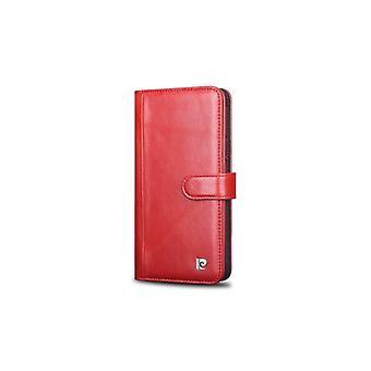 Pierre Cardin Leren Brieftasche Fall Hoesje Samsung Galaxy S8 Plus - Rood