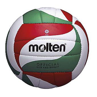 Molten V5M1800-L Indoor Outdoor Leather Volleyball Ball White/Red/Green - Size 5