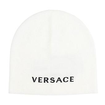 Cappello Maglia Bianco Logo Beanie