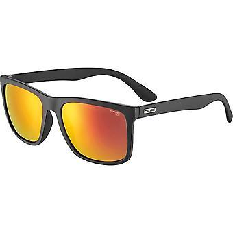 Cebe Hipe Sunglasses (Matt Black Red 1500 Grey PC AR Red Flash Mirror Cat.3)