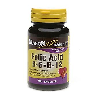 Mason natural folic acid, b-6 & b12, tablets, 90 ea