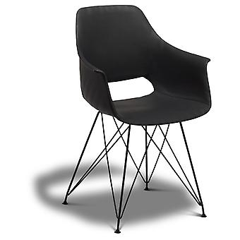 Ibbe Design Elvis Dining Chair Lichtbruin faux leder - Set van 2, 57x57x85 cm