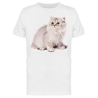 White Greyish Persian Kitten Tee Men-apos;s -Image par Shutterstock