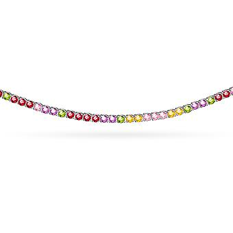 Choker Rainbow 18K Gold and Precious Stones