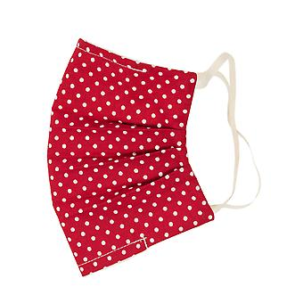 Mio WNS5 Sweet Spot Red and White Polka Dot Cotton Face Mask with Removable Nose Wire