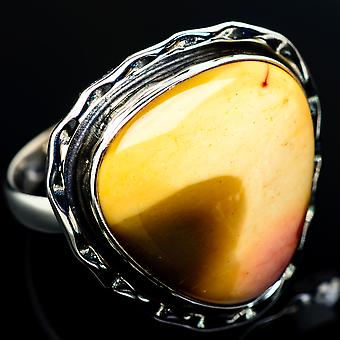 Large Mookaite Ring Size 11.25 (925 Sterling Silver)  - Handmade Boho Vintage Jewelry RING8102