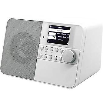 soundmaster IR6000WE Internet desk radio AUX, Wi-Fi, Internet radio Hvid
