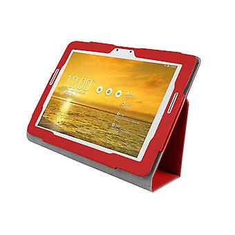 Funda de cuero PU para Asus Transformer Pad TF303 TF303CL[Red]