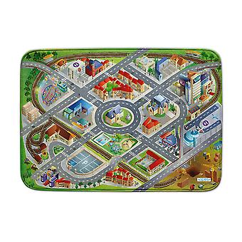 Achoka District Road Ultrasoft Playmat 130 x 180cm For Toddlers