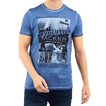 Brave Soul Ozzy London Photographic Print Washed T-Shirt