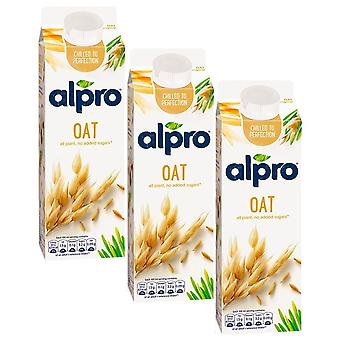 Alpro Hafer Original Milch trinken Zucker FREE Low Fat Vegeterian Drink 1 Liter x 3