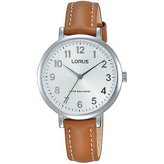 Lorus RG237MX-7 Brunt läderrem Armbandsur