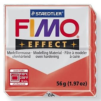 Fimo Effect 57G - Transparent Red 8020-204