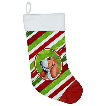 Basset Hound Candy Cane ferie jul julen strømpe LH9242