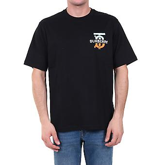 Burberry 8032185a1189 Männer's schwarze Baumwolle T-shirt