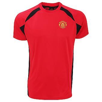 Manchester United FC Herre officielle kortærmet fodbold Crest T-Shirt