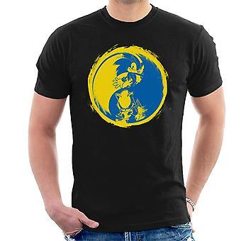 Sonic The Hedgehog Metal Sonic Yin Yang Men's T-Shirt