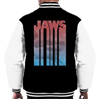 Jaws Shark Shadow Text Men's Varsity Jacket