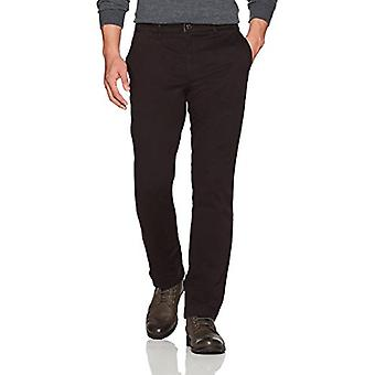Goodthreads Men's Straight-Fit Washed Stretch Chino Pant, Black, 34W x 32L