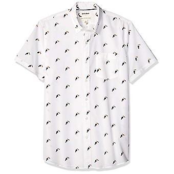 Goodthreads Men&s Standard-Fit Koszula poplin z krótkim rękawem, biała touca...