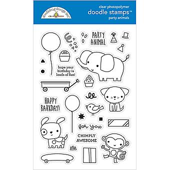 Doodlebug Design Party Animals - Znaczki Dla Chłopców Doodle
