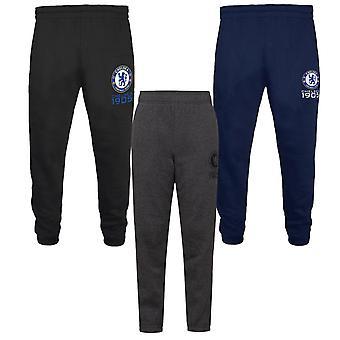 Chelsea FC Boys Joggers Jog Pants Slim Fit Fleece Kids OFFICIAL Football Gift