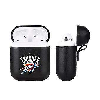 Oklahoma City Thunder NBA Fan Brander Zwart Lederen AirPod Case