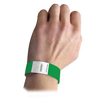 89103BNDL2PK, Bracelets de sécurité DuPont Tyvek, Vert, 100/PK (Ensemble de 2 PK)