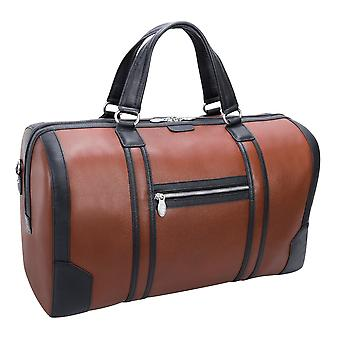 """18190, U Series, Kinzie 20"""" Leather, Two-Tone, Tablet Carry-All Duffel - Brown"""
