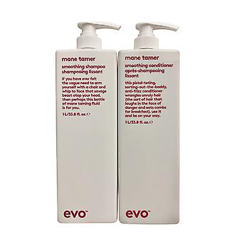 evo Mane Tamer Smoothing Shampoo & Conditioner Set 33.8 OZ Elk