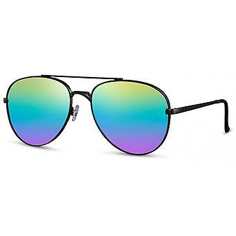 النظارات الشمسية النساء الطيار كات. 3 أسود / قوس قزح