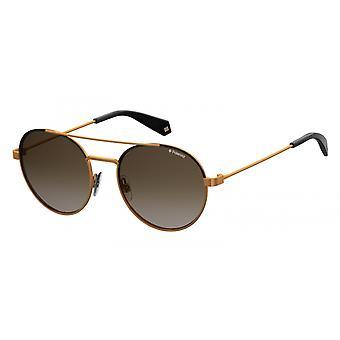 نظارات شمسية يونيسيكس 6056/Syyc/LA التدرج النحاس / براون