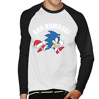 Sonic The Hedgehog Bah Humbug Miehet&s Baseball Pitkähihainen t-paita
