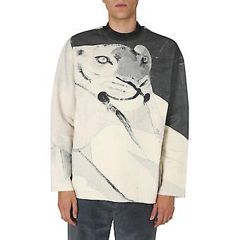 Kenzo Fa65msw104d037 Homme-apos;s Sweatshirt en coton blanc/noir
