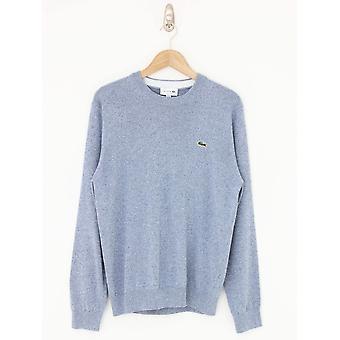 Lacoste Organic Cotton Crew Knit - Blue Melange