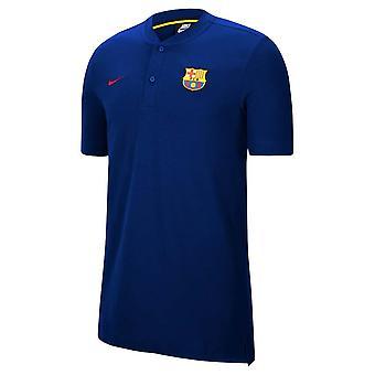 2020-2021 برشلونة قميص بولو أصيلة (ديب رويال)