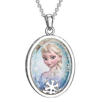 Frosne Elsa sølvbelagt shaker vedhæng halskæde
